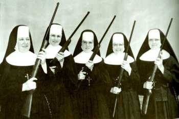 Image result for nuns with guns